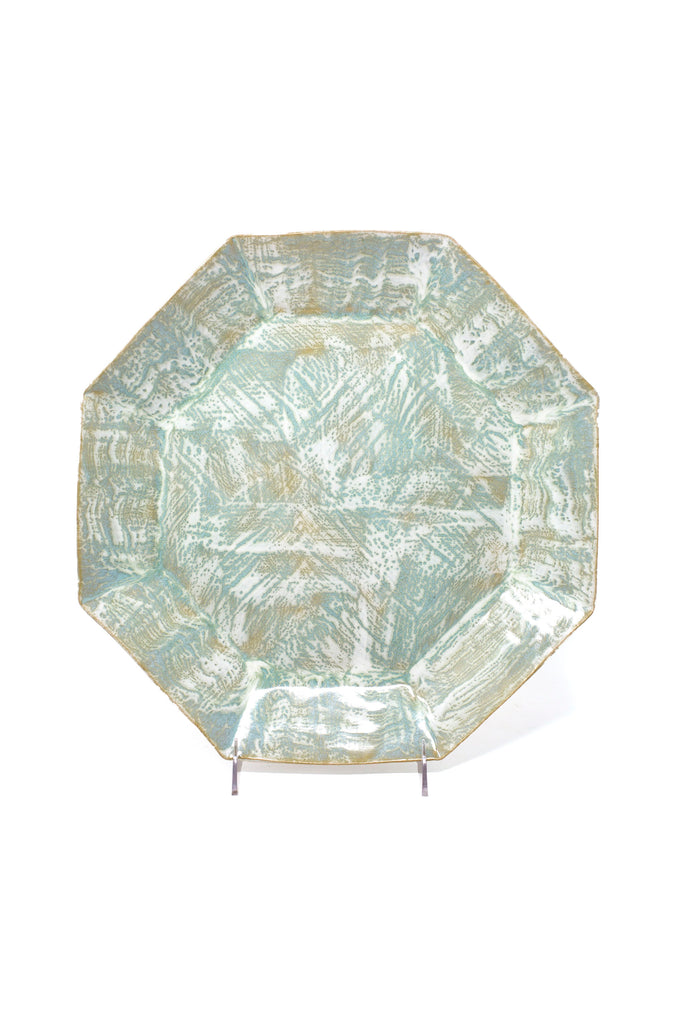 Celadon Brush Octagon Tray