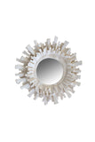 French Plaster Sunburst Mirror, Small