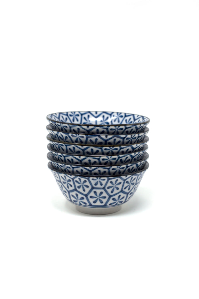 Blue Geo Block Bowl