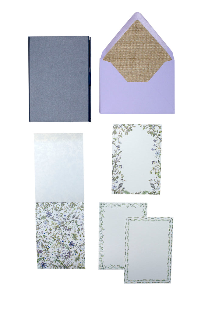Birds & Lavender Flowers Stationery Assortment