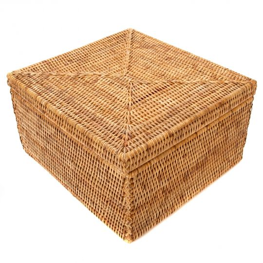 Handwoven Storage Box with Lid