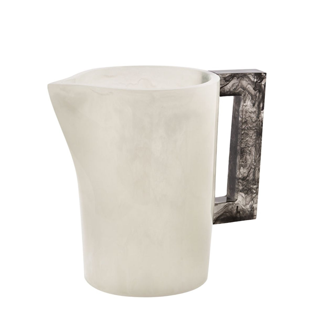 Resin Pitcher, White/Charcoal Handle