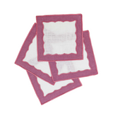 Berry Colored Cocktail Napkin