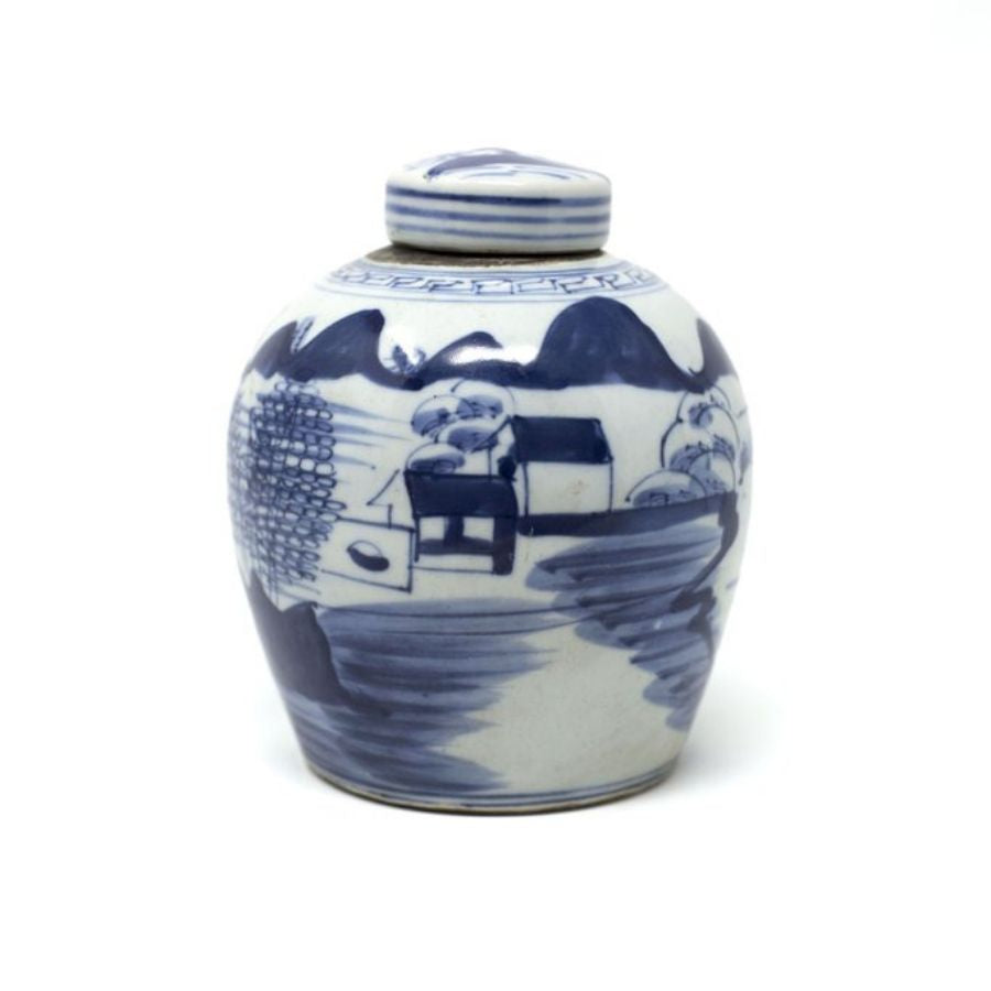 Blue and White Canton Jar