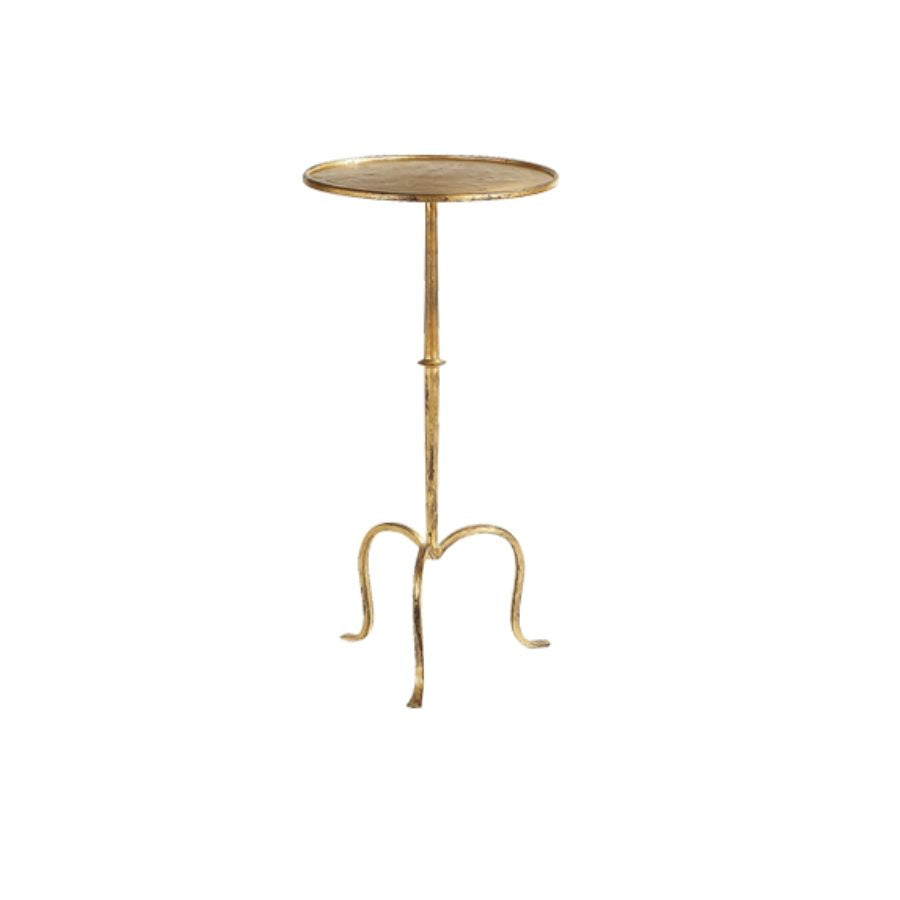 Hand-Forged Martini Table in Gilded Iron