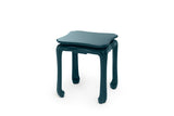 Chinoiserie Lacquer Side Table, Marine Blue