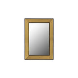 Brass and Black Lacquer Mirror