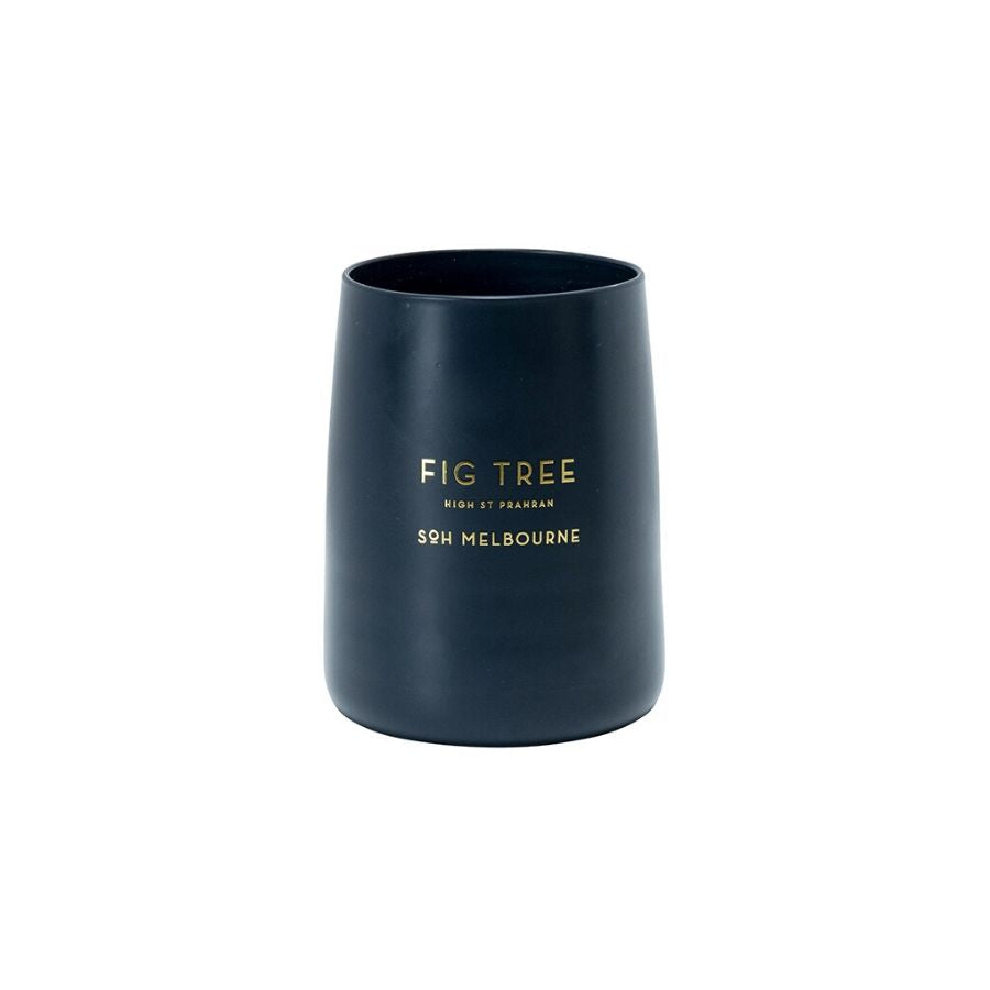 Fig Tree Navy Matte Glass Candle