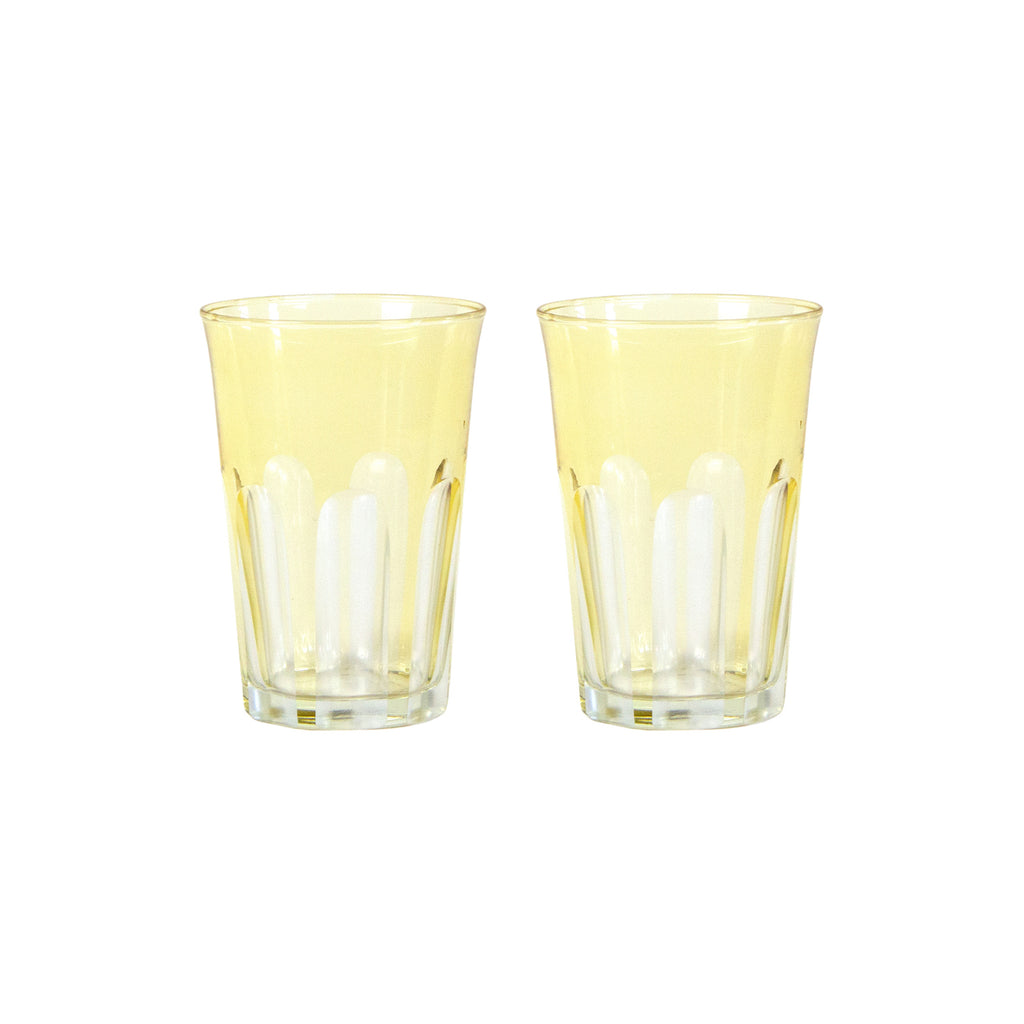 Translucent Colored Glass S/2,  Limoncello