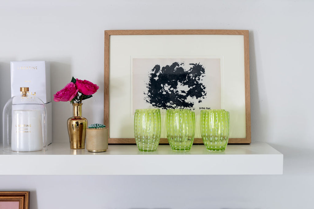 Handblown Italian Glass, Apple Green