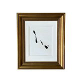 Black and White Minimalist Gold Frame