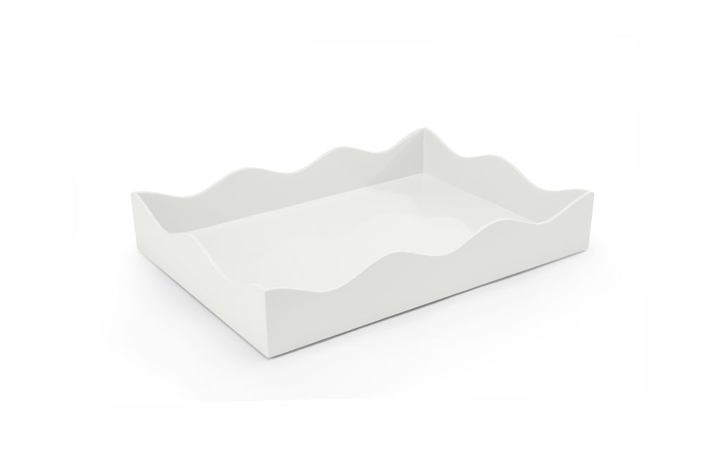 Medium Lacquer Tray, Off White