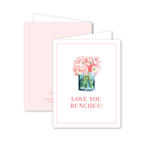 Peony Bunches Card