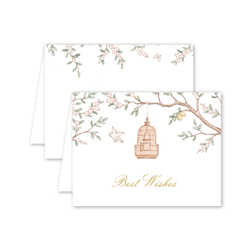 Chinoiserie Garden Best Wishes Card