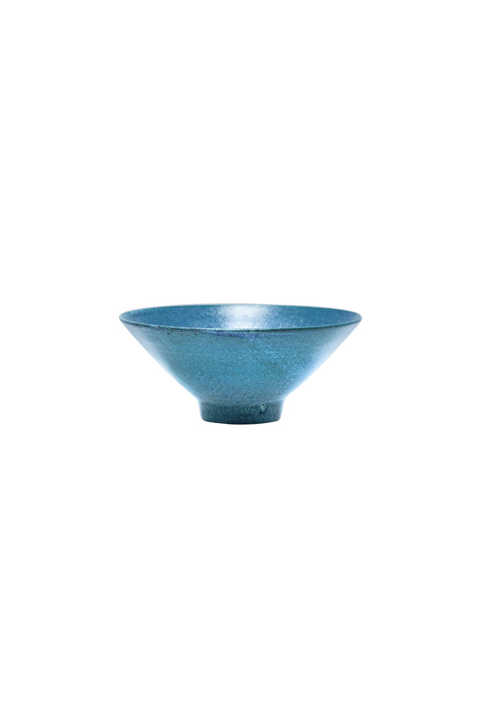 Mid-Century French Blue Pottery - Small Bowl
