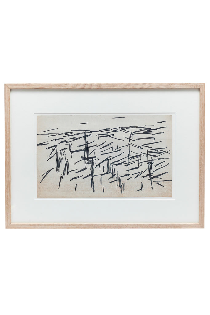 Mid-Century Abstract Ink  by Jacques Germain