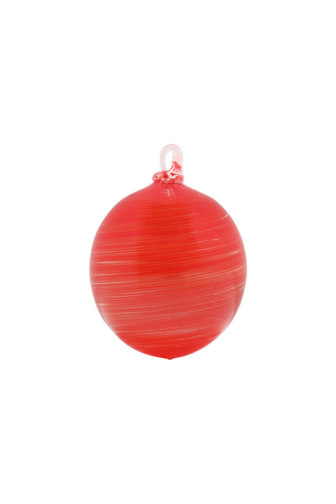 Handblown Glass Ornament in Red