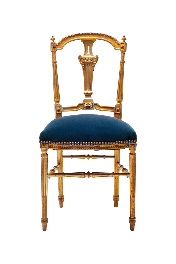 19th Century French Style Gilt-wood Chair
