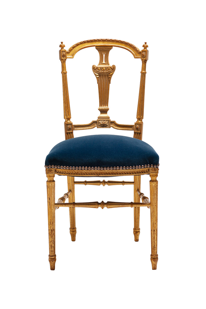 19th Century French Gilt-wood Style Chair
