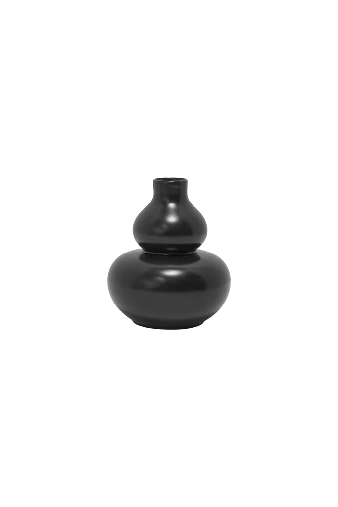Double Gourd Mini Bud Vase, Black