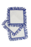 Fringe Square Cocktail Napkin, Cobalt