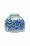 Blue and White Jar with Bird and Flower Motif