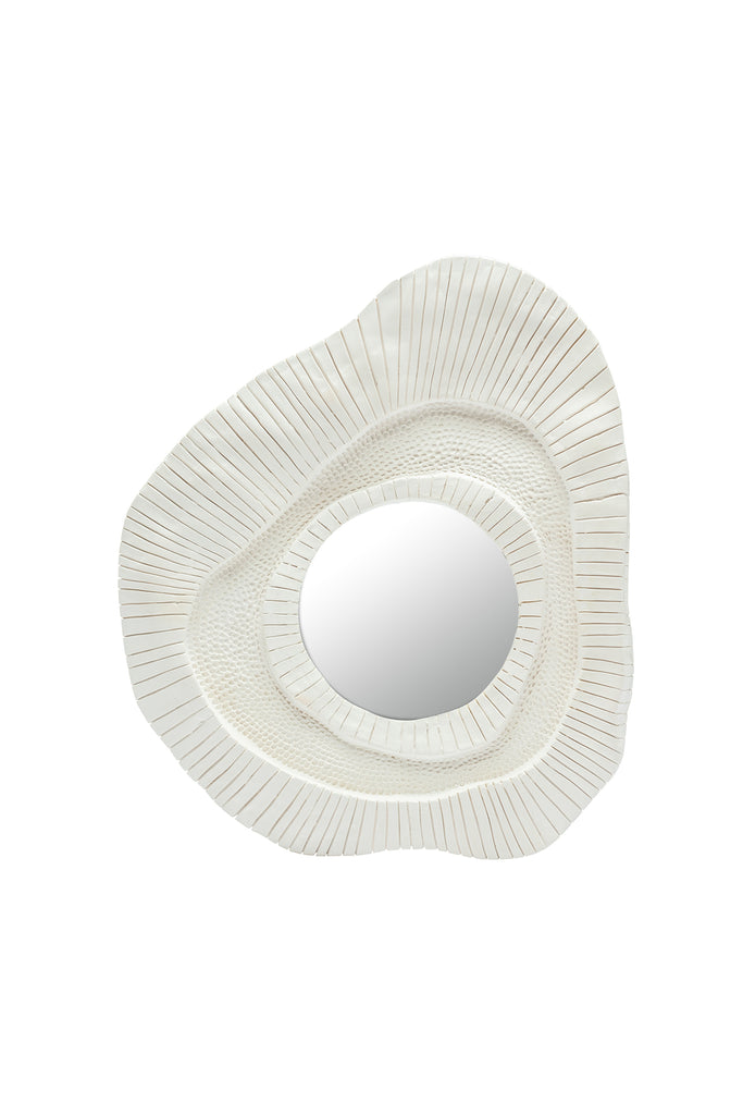 French Plaster Sunburst Mirror, Medium