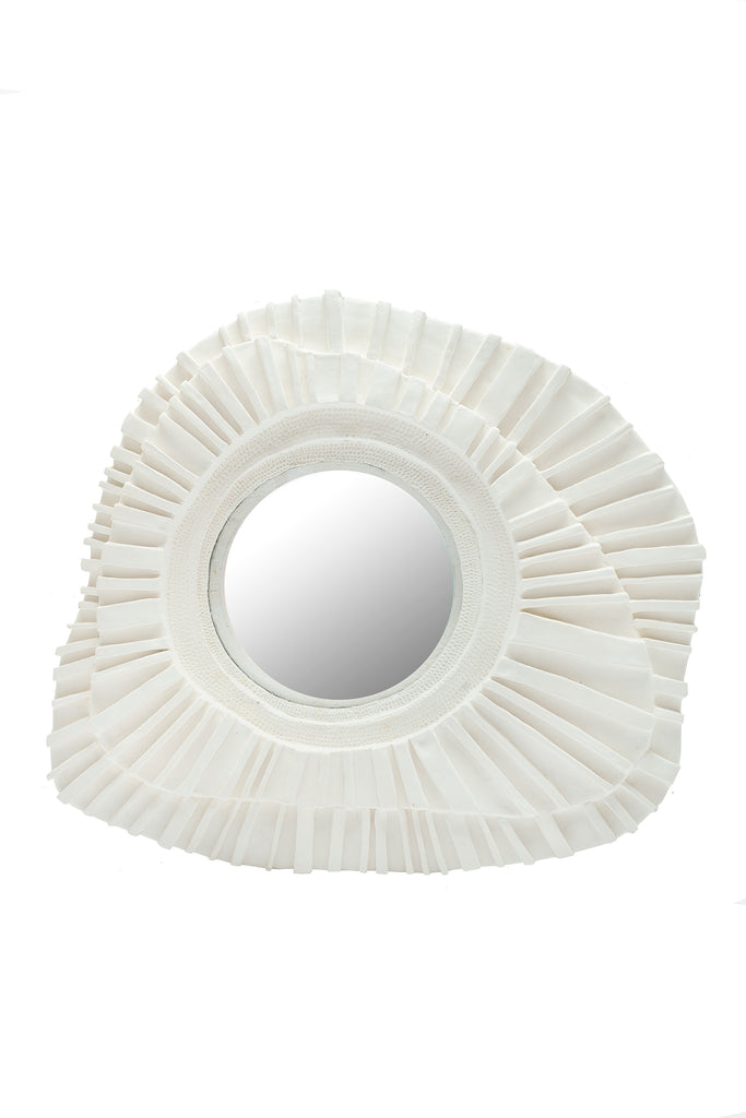 French Plaster Sunburst Mirror, Large