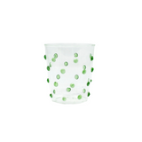 Green White Dotted Cocktail Glass