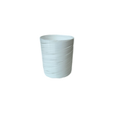Short Round Glass, White