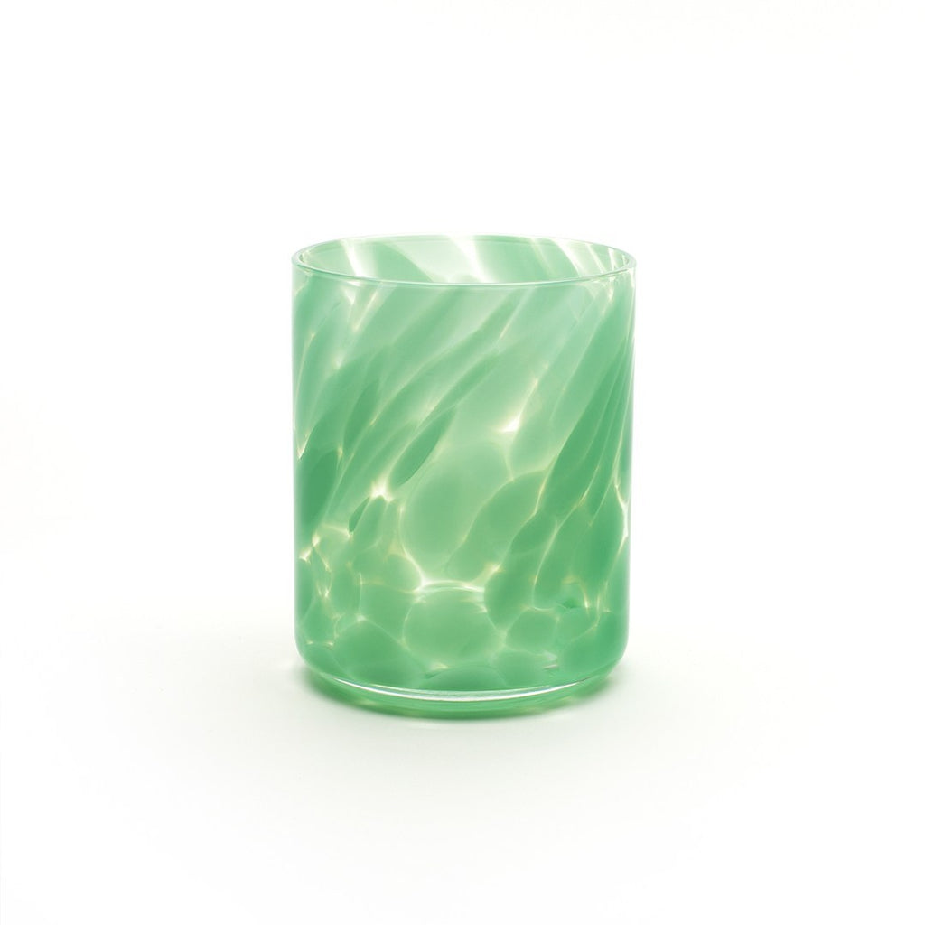 Fritsy Drinking Glass, Jade Green