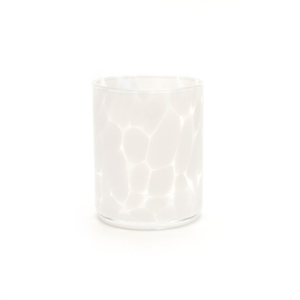 Fritsy Drinking Glass, Opal White