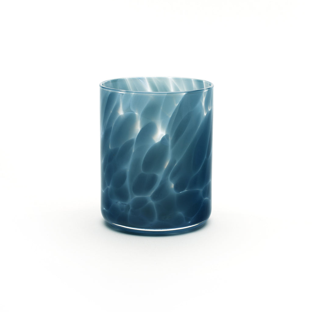 Fritsy Drinking Glass, Pigeon Blue