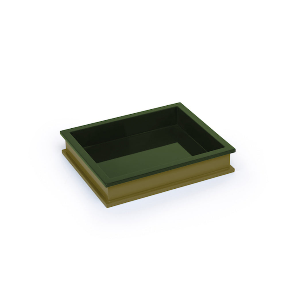 Small Rectangular Tray, Light Olive/ Dark Olive