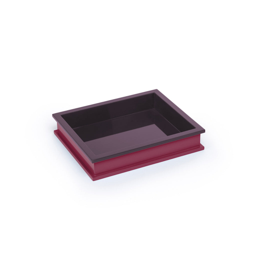 Small Rectangular Tray, Eggplant/ Chinaberry Crimson