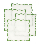 Green Tea cocktail napkins with color trim set