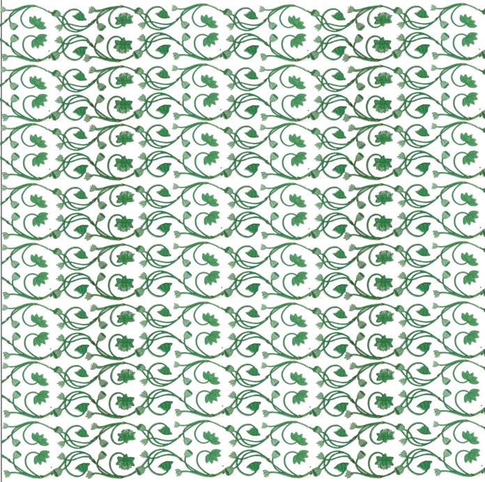 Lotus Table Cloth, Green 60x60