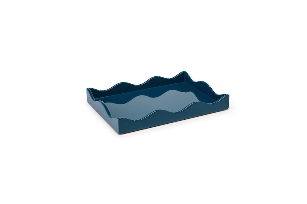 Small Lacquer Tray, Marine Blue