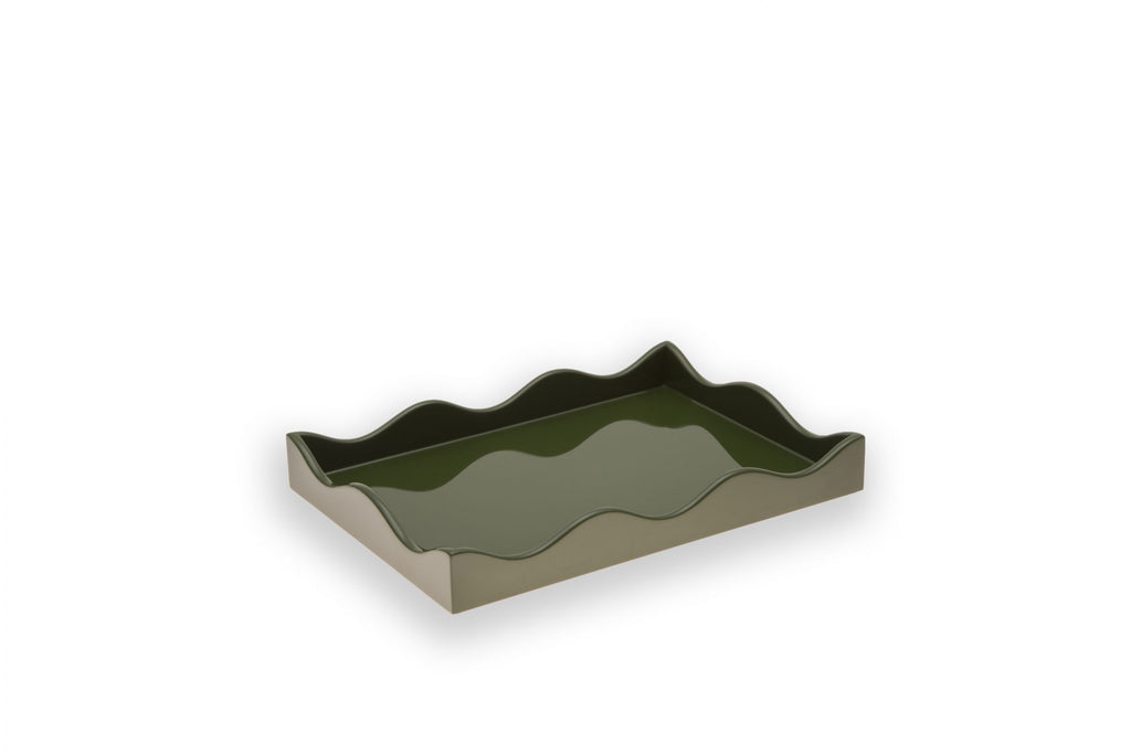 Small Lacquer Tray, Olive, by The Lacquer Company