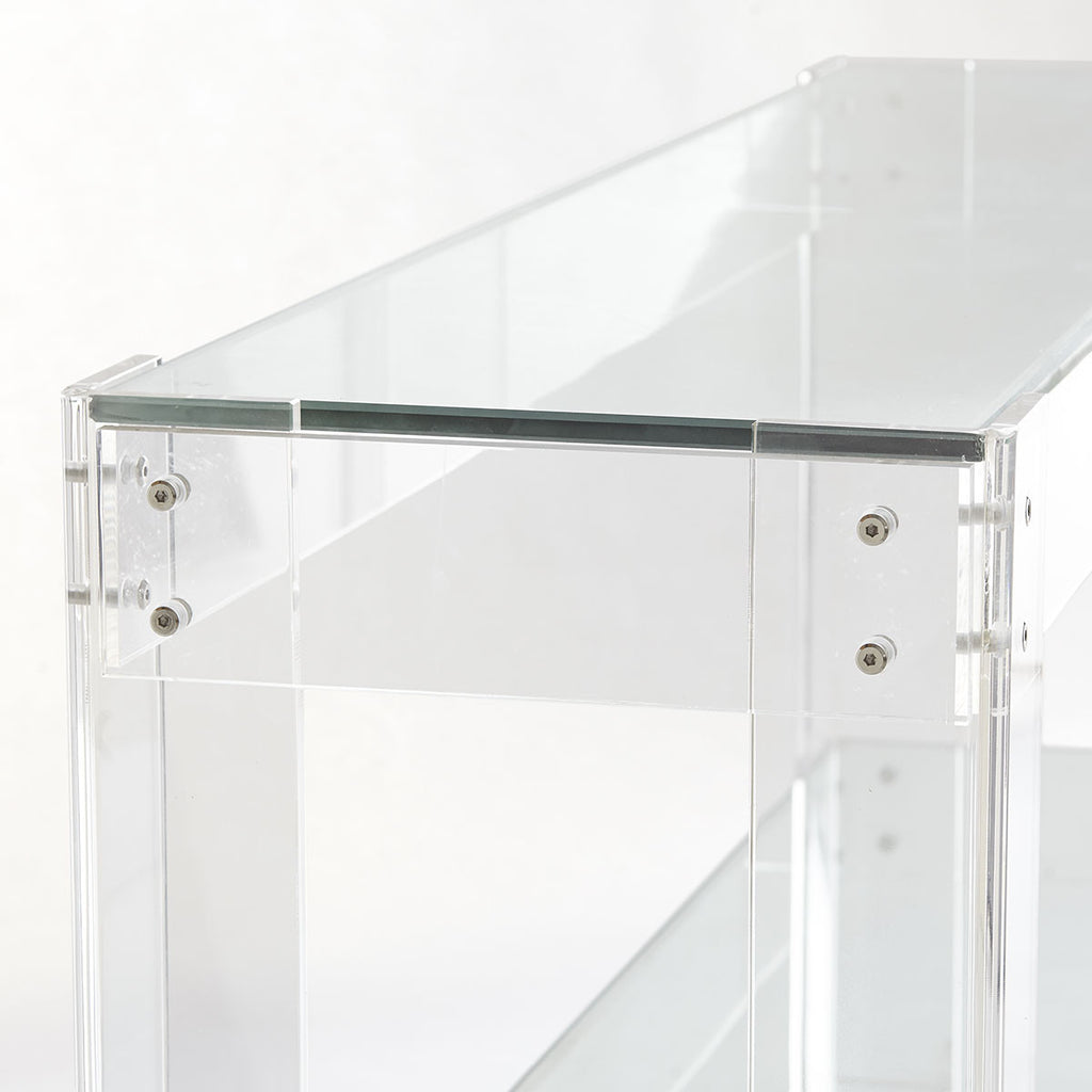 Acrylic and Glass Console