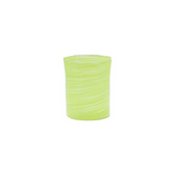 Short Octagonal Handblown Glass in Lime Green