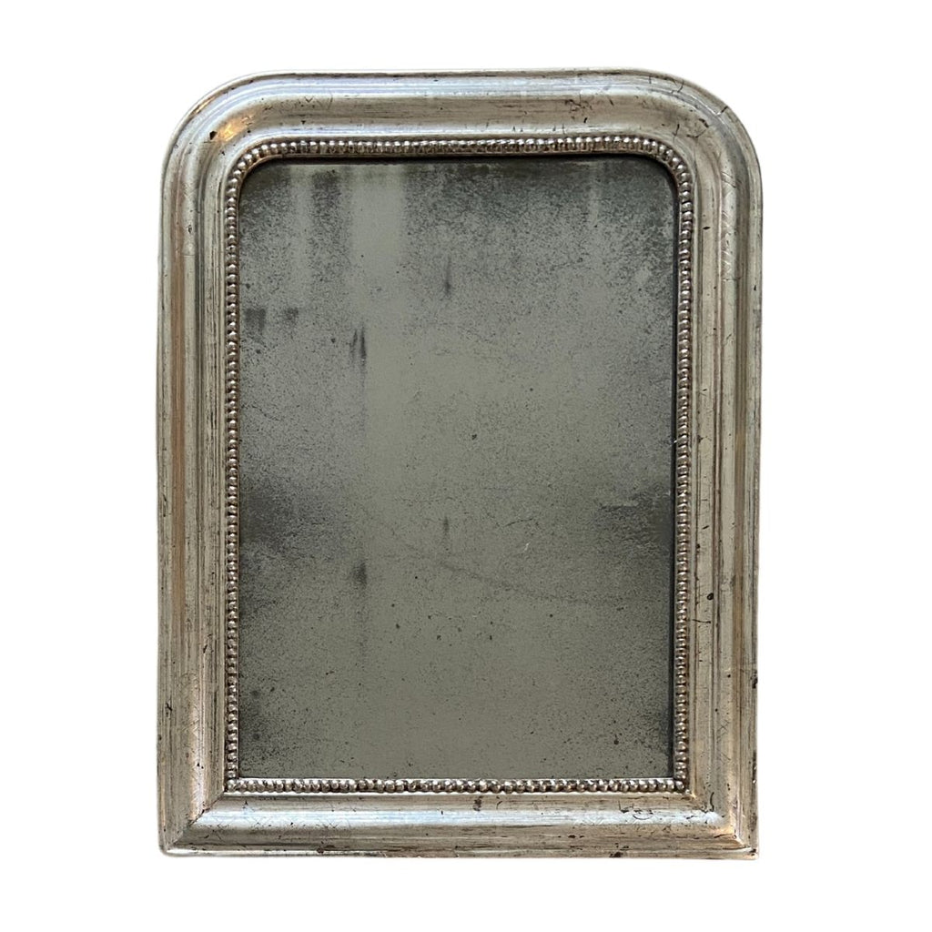 Small 19th C. Silver Leaf Louis Philippe Mirror