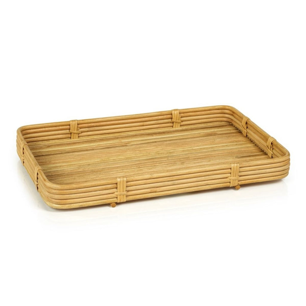Rattan Serving Tray, Natural