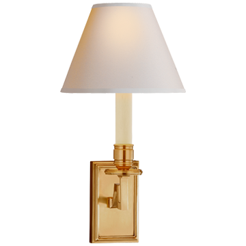 Gold Angular Arm Detail Sconce