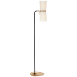 Black and Hand-Rubbed Antique Floor Lamp