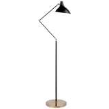 Contrast Black and Brass Finish Floor Lamp