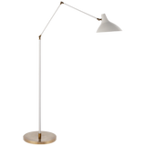 Contrast Black and Brass Floor Lamp