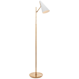 Hand-Rubbed Antique Brass Body Floor Lamp