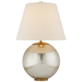Medium Size Lamp with Silver Round Base by Visual Comfort