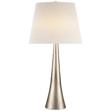Thick Neck Burnished Silver Leaf Table Lamp